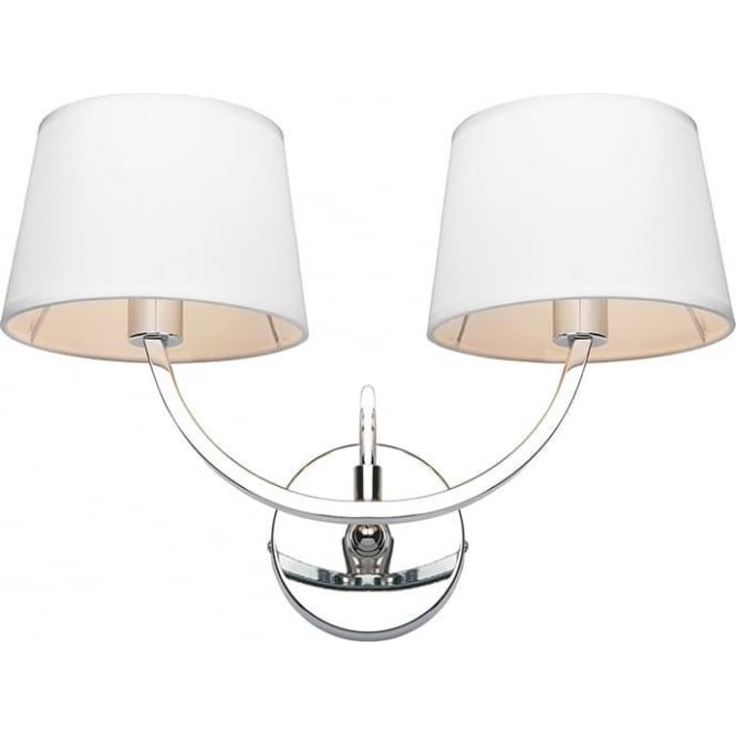 Endon 61708 Macy 2 Light Wall Light Polished Chrome