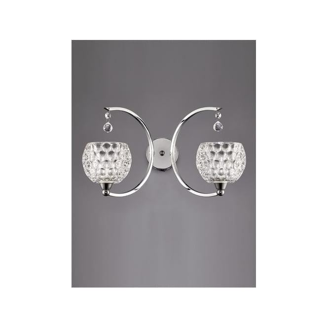 Franklite FL2339/2 Omni 2 Light Switched Wall Light Polished Chrome