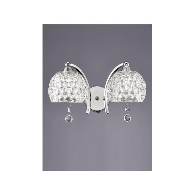 Franklite FL2337/2 Neo 2 Light Switched Wall Light Polished Chrome
