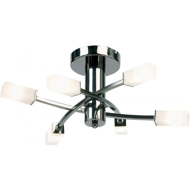 Endon 146-6BC Havana 6 Light Ceiling Light Black Chrome