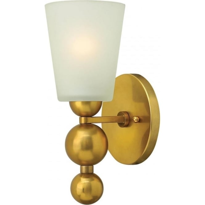 Elstead Hinkley HK/ZELDA1-VS Zelda 1 Light Wall Light Vintage Brass