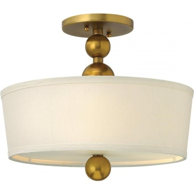 Elstead Hinkley HK/ZELDA/SF-VS Zelda 3 Light Ceiling Light Vintage Brass