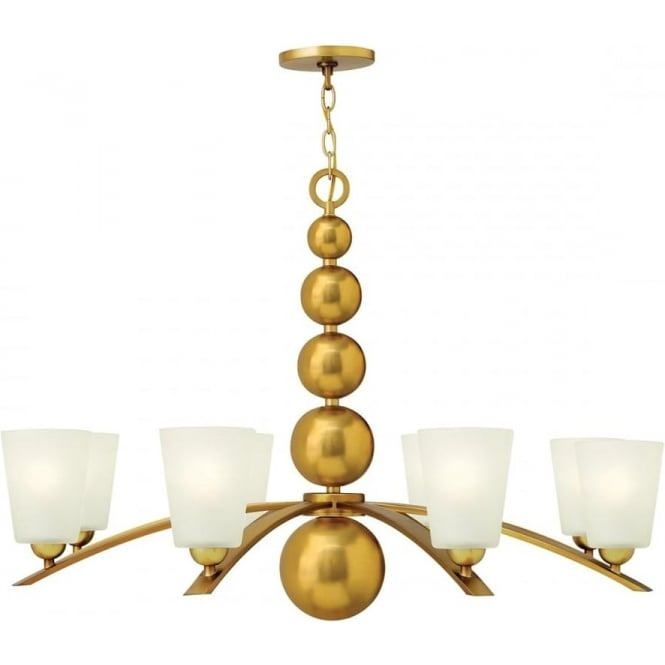 Elstead Hinkley HK/ZELDA8-VS Zelda 8 Light Ceiling Light Vintage Brass