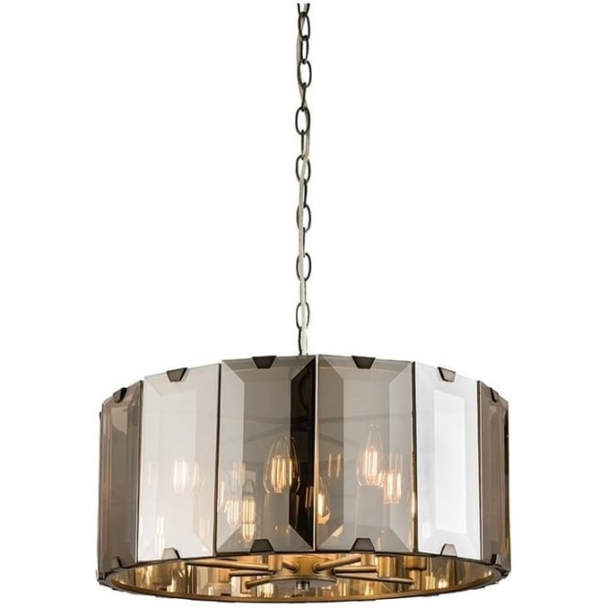 Endon 61294 Clooney 8 Light Ceiling Pendant Smoked Glass