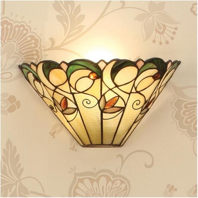 Interiors 1900 64198 Jamelia 1 Light Tiffany Wall Light
