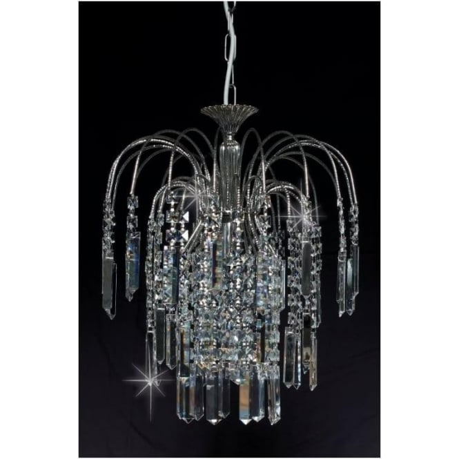 Impex Russell ST01700/20/01/AN Shower Coffin 1 Light Crystal Pendant Antique Nickel