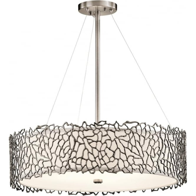 Elstead Kichler KL/SILCORAL/P/B Silver Coral 4 Light Ceiling Light Pewter