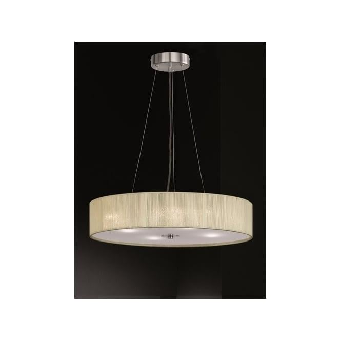 Franklite FL2342/4 Desire 4 Light Ceiling Pendant Cream