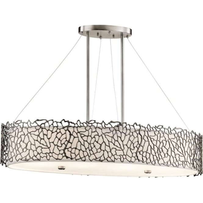Elstead Kichler KL/SILCORAL/ISLE Silver Coral 4 Light Ceiling Light Pewter