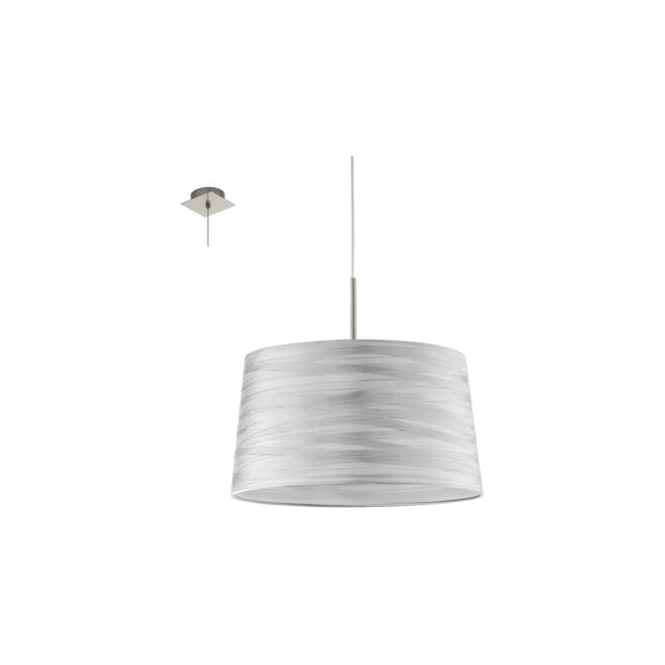 Eglo 94307 Fonsea 1 Light Ceiling Pendant White Silver