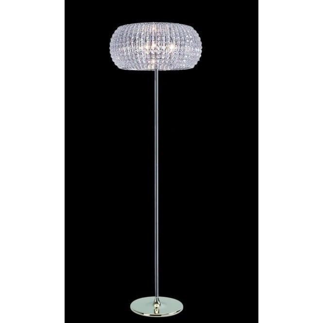 Impex Russell CFH905262/FL/CH Rome 6 Light Crystal Floor Lamp Polished Chrome