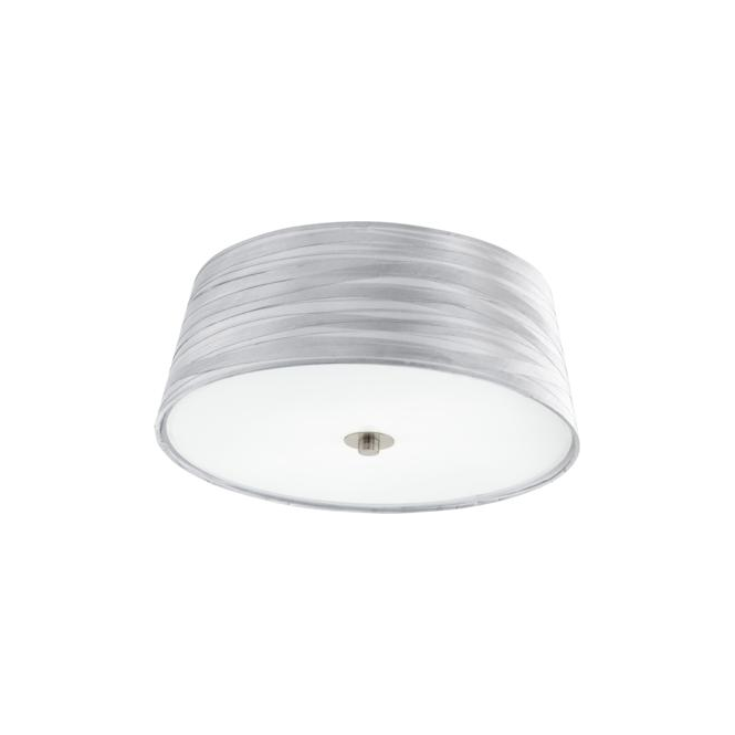 Eglo 94306 Fonsea 2 Light Flushed Ceiling Light White Silver