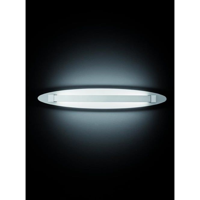 Franklite WB064 Hollo LED Wall Light Ivory/Chrome (Small)