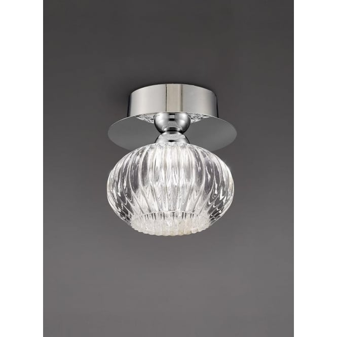 Franklite CF5749 Tizzy 1 Light Semi-flush Ceiling Light Chrome