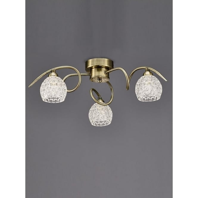 Franklite FL2348/3 Springa 3 Light Semi-Flush Ceiling Light Bronze