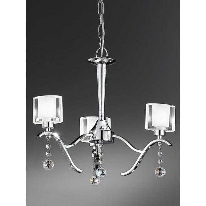 Franklite FL2164/3 Theory 3 Light Ceiling Light Polished Chrome