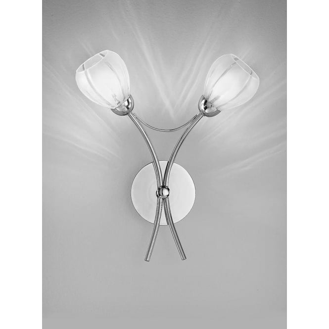 Franklite FL2206/2 Chloris 2 Light Wall Light Chrome