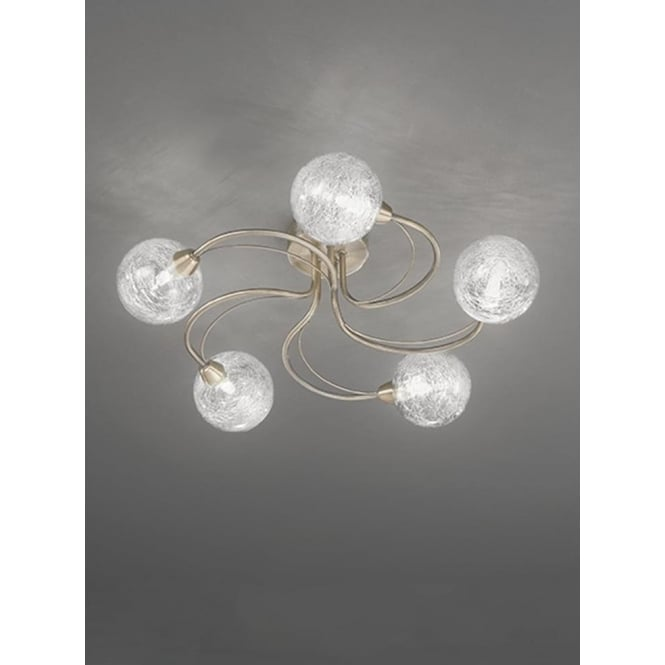 Franklite FL2328/5 Gyro 5 Light Semi-flush Ceiling Light Bronze