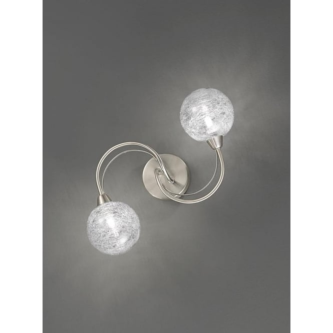 Franklite FL2327/2 Gyro 2 Light Ceiling/Wall Light Satin Nickel