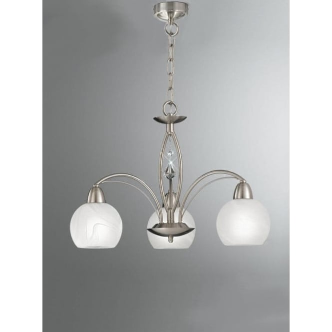 Franklite FL2277/3 Thea 3 Light Ceiling Light Satin Nickel