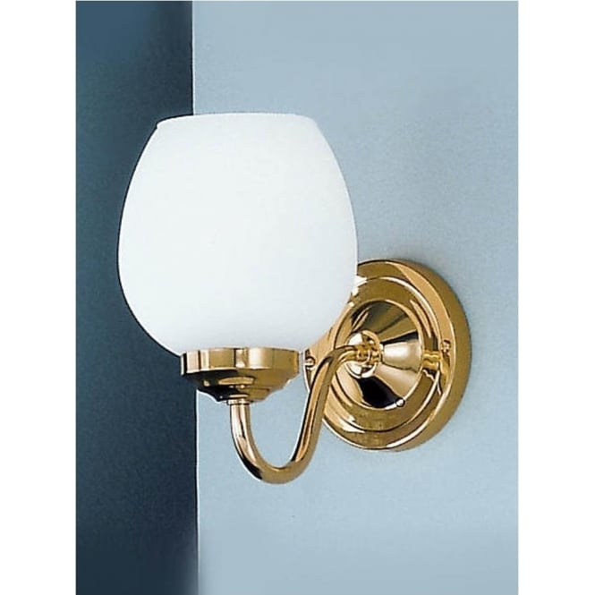Franklite COB11708/715 Alba 1 Light Wall Light Polished Brass