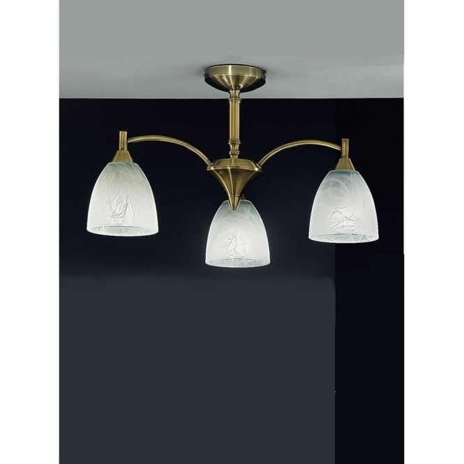 Franklite FL2105/3 Emmy 3 Light Ceiling Light Bronze