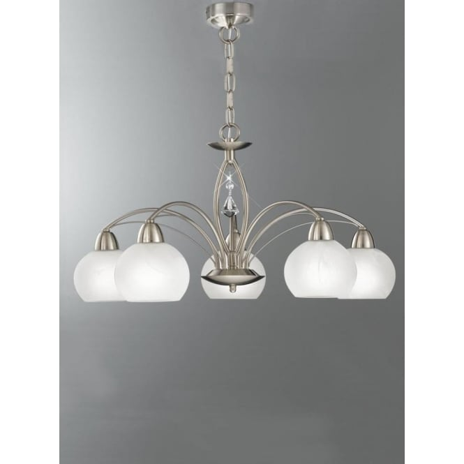 Franklite FL2277/5 Thea 5 Light Ceiling Light Satin Nickel