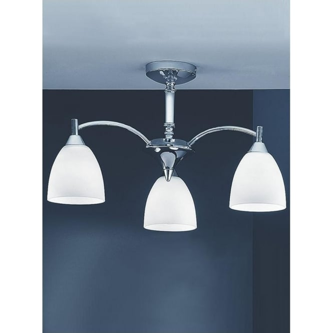 Franklite FL2087/3 Emmy 3 Light Ceiling Light Polished Chrome