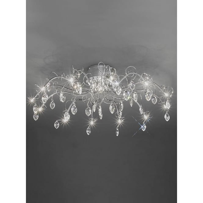 Franklite FL2234/13 Chantilly 13 Light Ceiling Light Polished Chrome