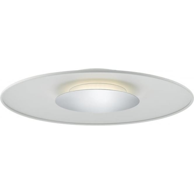 Dar WOR502 Worcester LED Flush Ceiling Light Matt White
