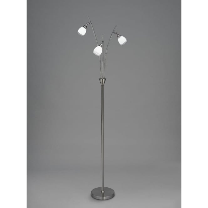 Franklite SL220 Lutina 3 Light Floor Lamp Satin Nickel