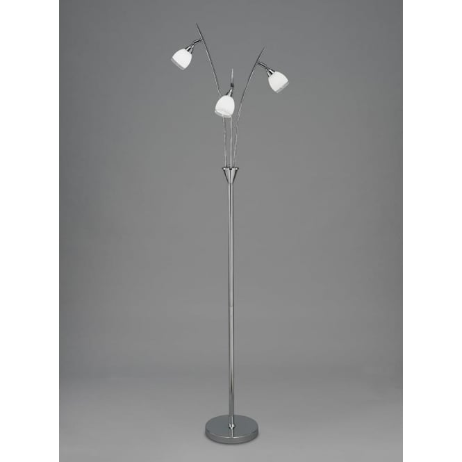 Franklite SL219 Lutina 3 Light Floor Lamp Chrome