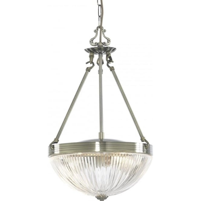 Searchlight 4772-2AB Windsor II 2 Light Ceiling Pendant Antique Brass