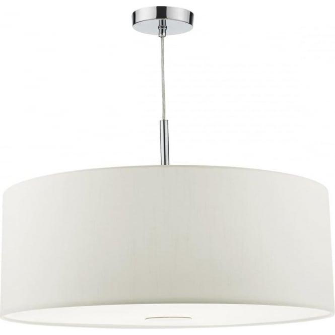 White Ceiling Lights: Dar RON172 Ronda White Large 3 Light Pendant
