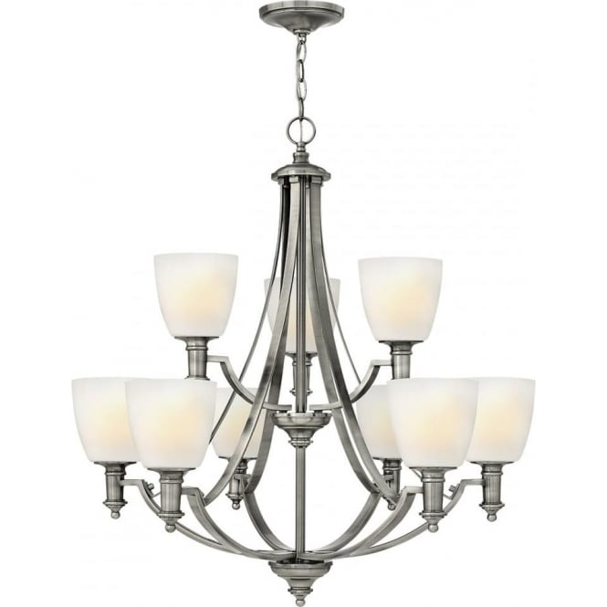 Elstead Hinkley HK/TRUMAN9 Truman 9 Light Ceiling Light Antique Nickel