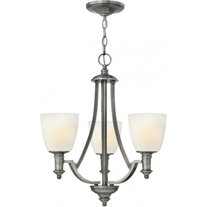Elstead Hinkley HK/TRUMAN3 Truman 3 Light Ceiling Light Antique Nickel