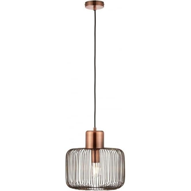 endon 68986 nicola antique copper ceiling pendant