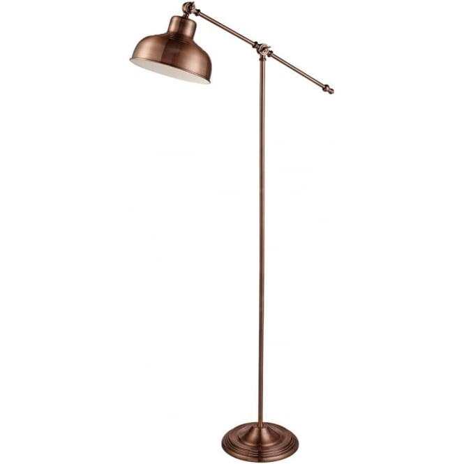 Searchlight 2028CU 1 Light Macbeth Floor Lamp Copper