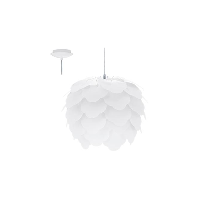 Eglo 92888 Filetta 1 Light Ceiling Pendant White