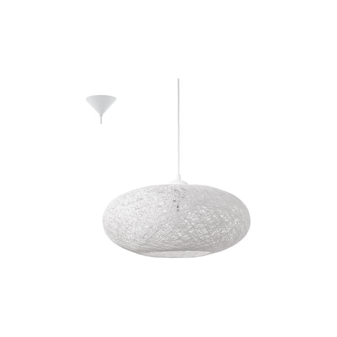 Eglo 93373 Campilo 1 Light Ceiling Pendant White