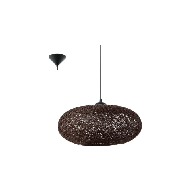 Eglo 93375 Campilo 1 Light Ceiling Pendant Brown