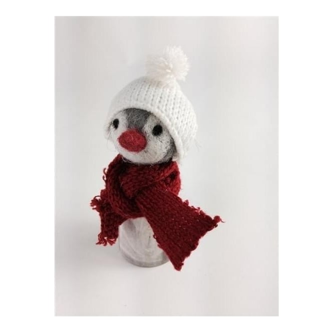 Shoeless Joe 5626 Christmas Chilly Penguin in a Woolly Hat