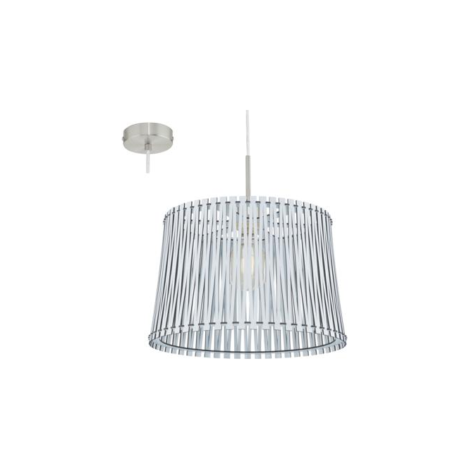 Eglo 96185 Sendero 1 Light Ceiling Pendant White Wood