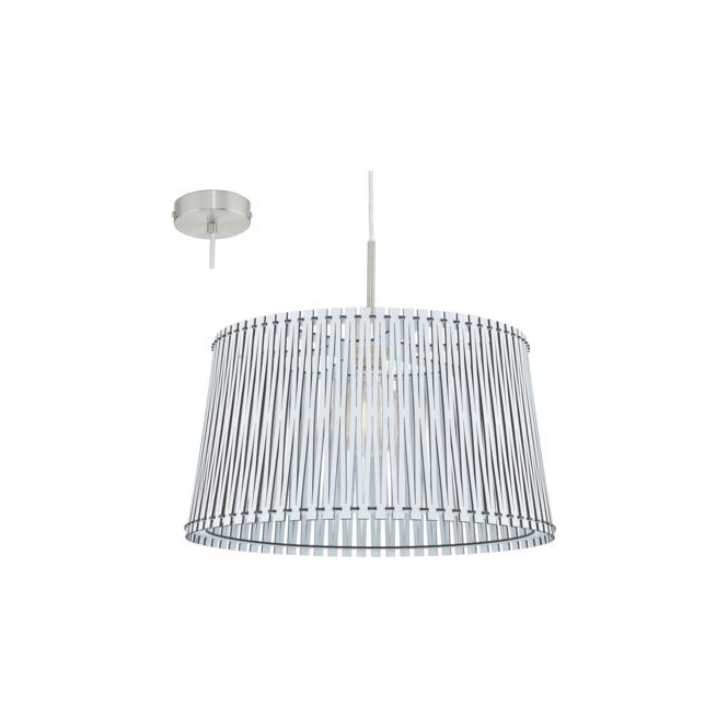 Eglo 96186 Sendero 1 Light Ceiling Pendant White Wood