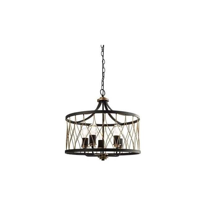 Smartwares Industrial Es Pendant Light Black Bronze: Endon 61498 Heston 5 Light Ceiling Pendant Black/Bronze