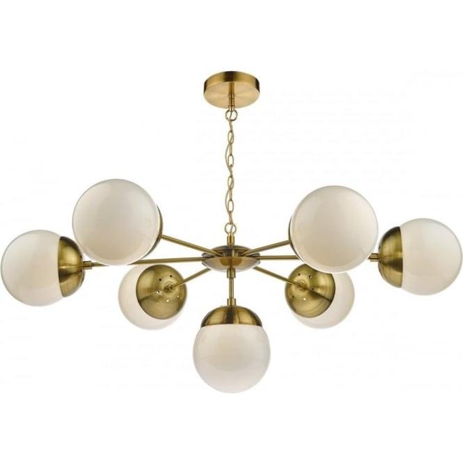 Dar Bom3435 Bombazine 7 Light Natural Brass Ceiling Pendant
