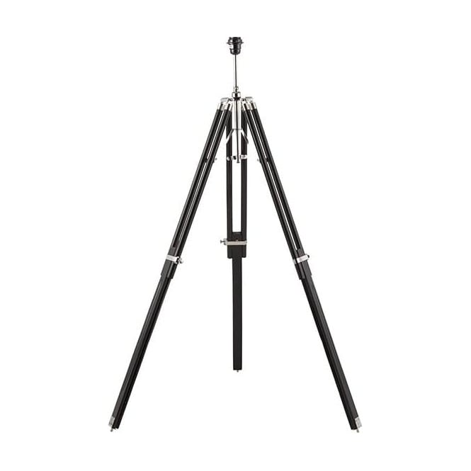 Endon EH-TRIPOD-FLBL Tripod Floor Lamp Black Wood with shade