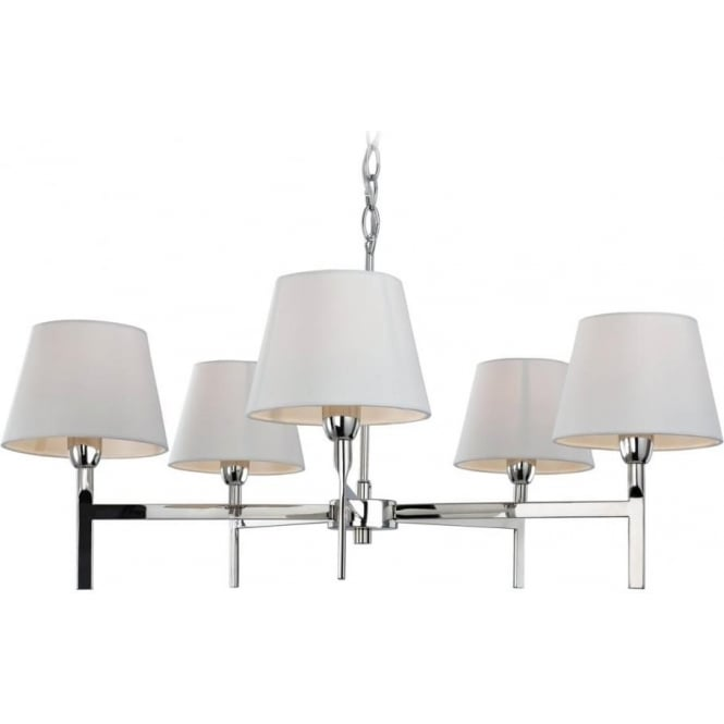 FirstLight 8219PST Transition 5 Light Ceiling Light Polished Stainless Steel