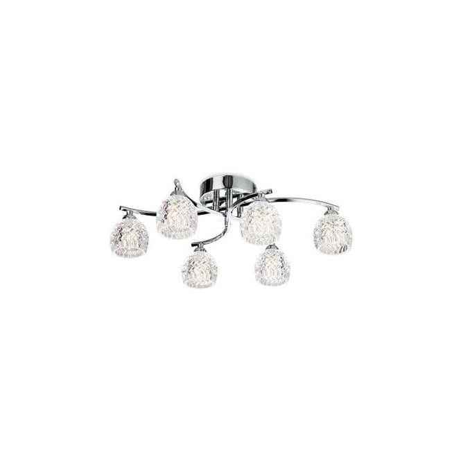 FirstLight 8615CH Maple 6 Light Flush Ceiling Light
