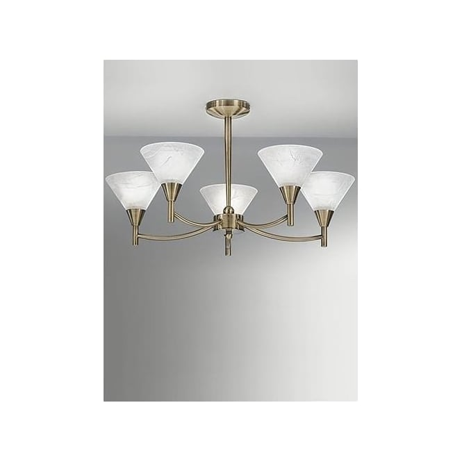 Franklite FL2251/5 Harmony 5 Light Ceiling Light Bronze